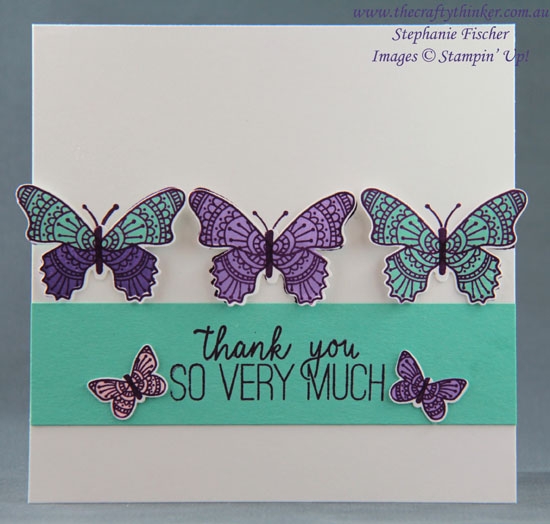 #thecraftythinker  #butterflygala  #stampinup  #cardmaking #occasionscatalogue2019 , Butterfly Gala Bundle, 2019 Occasions Catalogue, Stampin' Up Australia Demonstrator, Stephanie Fischer, Sydney NSW