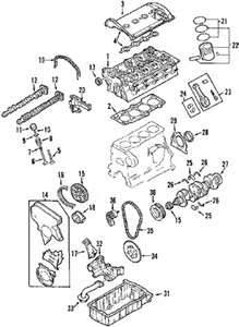 2002 Audi TT 1.8L Engine Block Assembly Parts Diagram