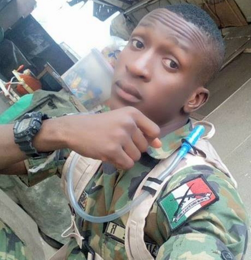 nigerian soldier shares war photos facebook