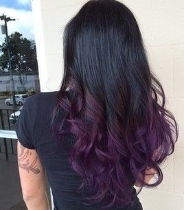 Ombre In Purple Shades The Haircut Web