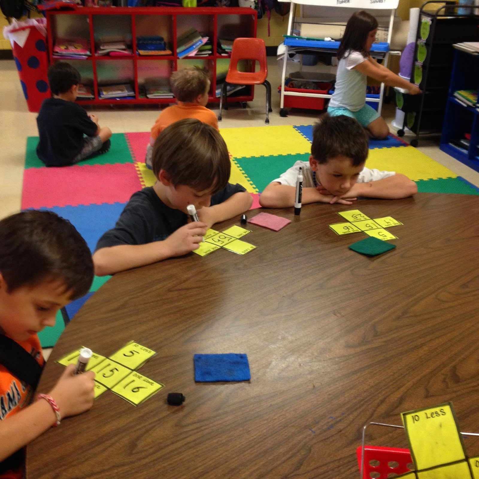 First Grade Mon Stars 10 More 10 Less