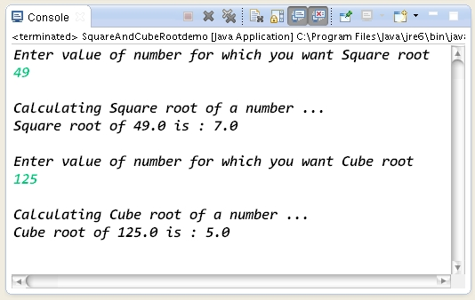 C# Program to Find Square Root of a Given Number