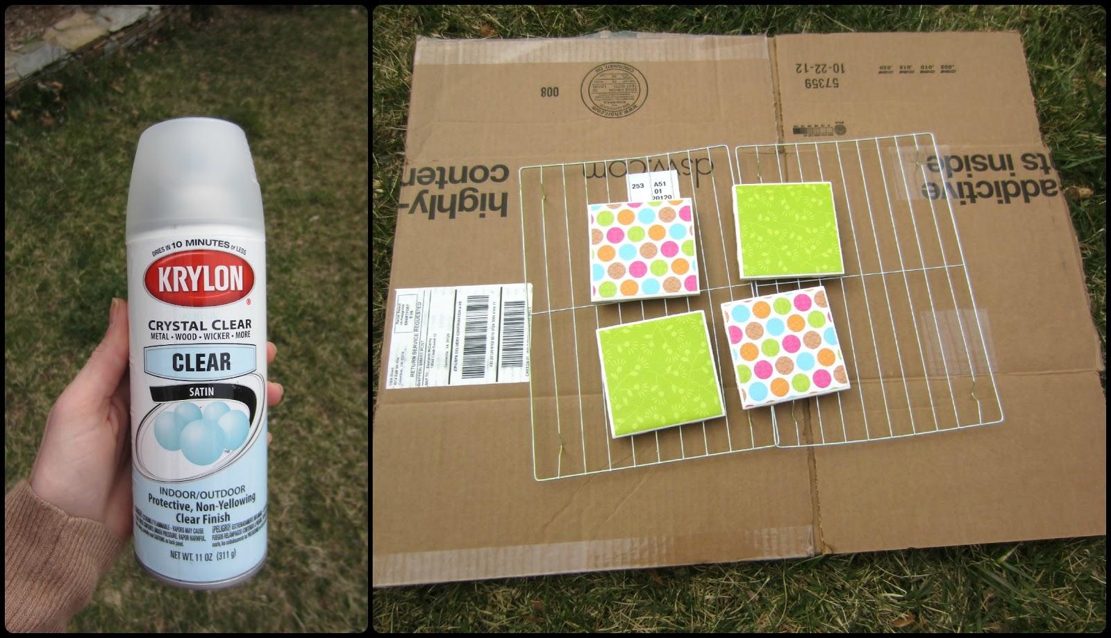 Simply DIY 2: Coasting Into Spring: DIY Tile Coasters