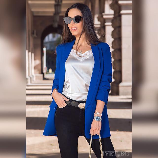 Γυναικείο μπλε σακάκι ARIALA BLUE