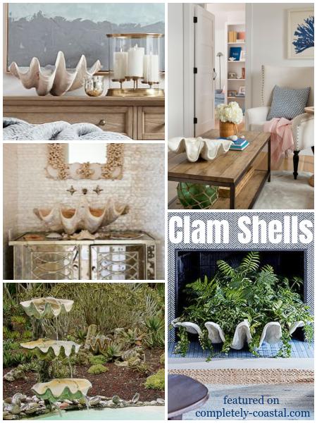 Giant Clam Shell Coastal Decor Interior Design Ideas