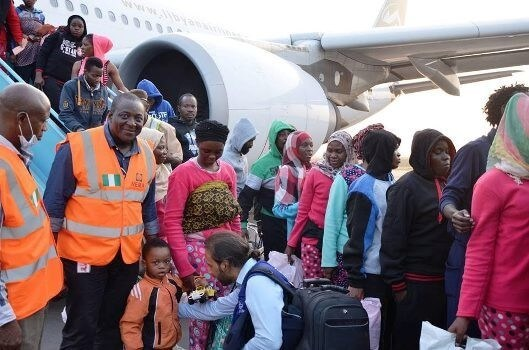 3 baby boys nigerians return libya