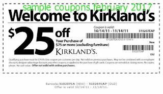 Kirklands coupons february 2017