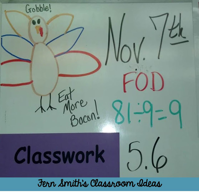Fern Smith's Classroom Ideas Fact of The Day on the Board ~ FOD