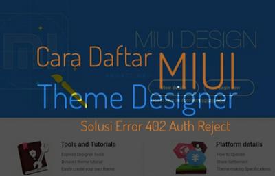 daftar akun miui theme designer