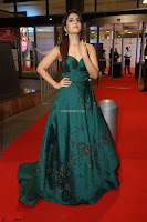 Raashi Khanna in Dark Green Sleeveless Strapless Deep neck Gown at 64th Jio Filmfare Awards South ~  Exclusive 149.JPG