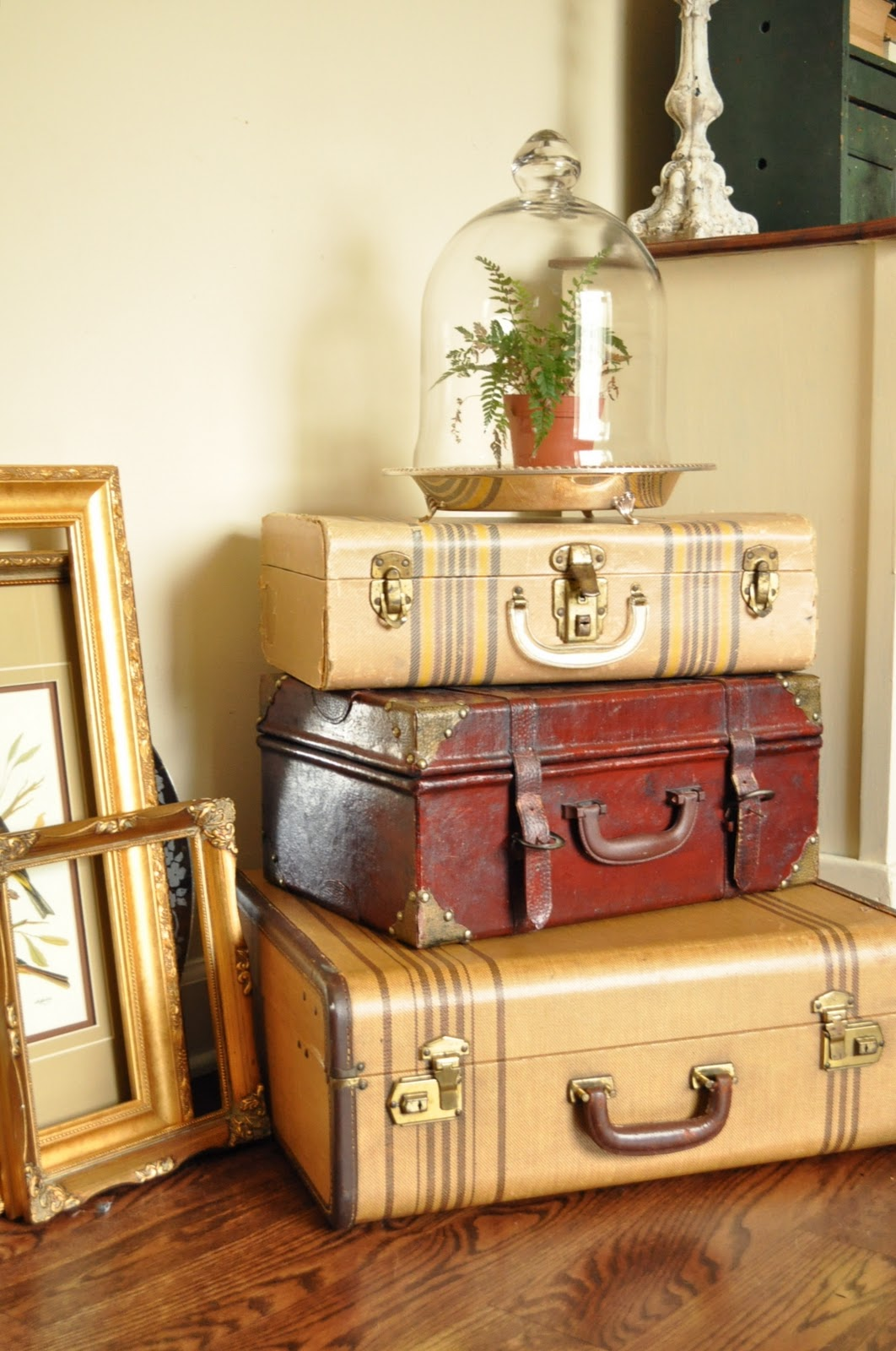 Vintage Decorative Suitcases Some Living Room Decor Rearranging Jennifer Rizzo