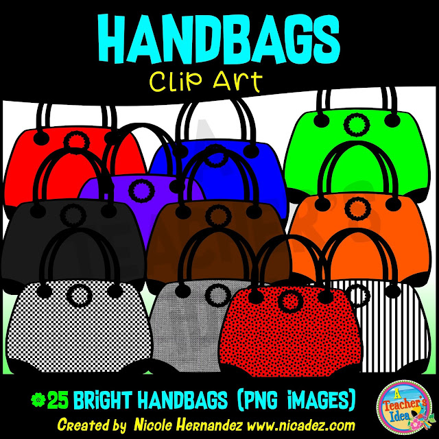 https://www.teacherspayteachers.com/Product/Handbags-Clip-Art-for-Personal-and-Commercial-Use-4533680