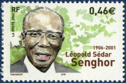 Leopold Sédar Senghor post stamp