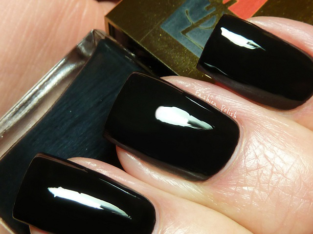 fashion polish yves saint laurent duo terriblement noir swatches and review. Black Bedroom Furniture Sets. Home Design Ideas