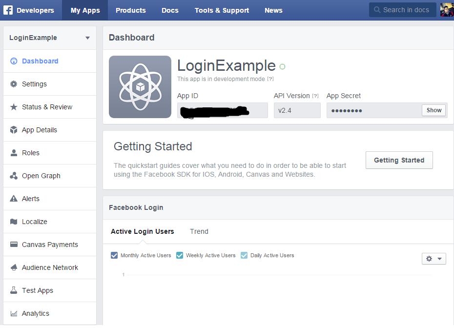 Facebook Login Using LoginButton