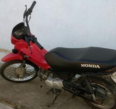Polícia Militar de Mairi recupera moto roubada
