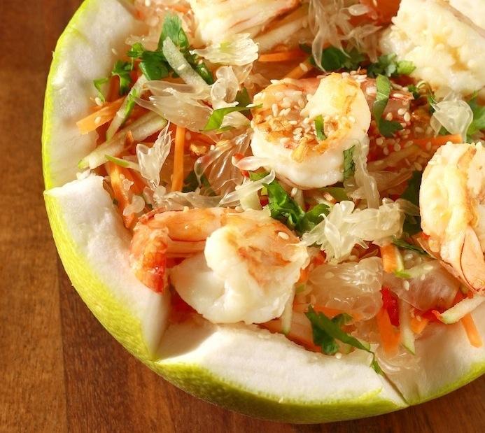 Vietnamese pomelo salad recipe with shrimp