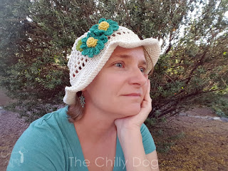 Free Pattern (any size, any yarn): Learn how to make a sun blocking crochet hat for warm spring and summer days.