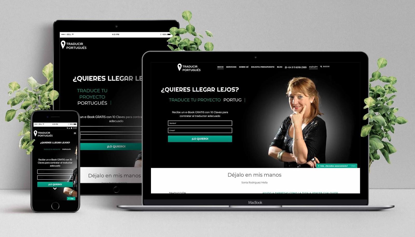 Diseño Web de Traducir Portugués
