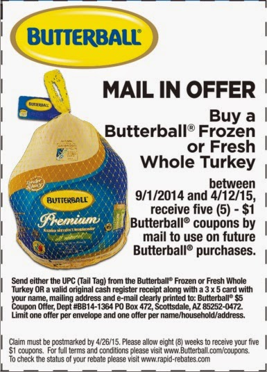 Coupon Butterball Turkey Whole
