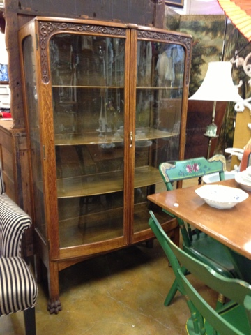 Antique Furniture China Cabinet Bowfront