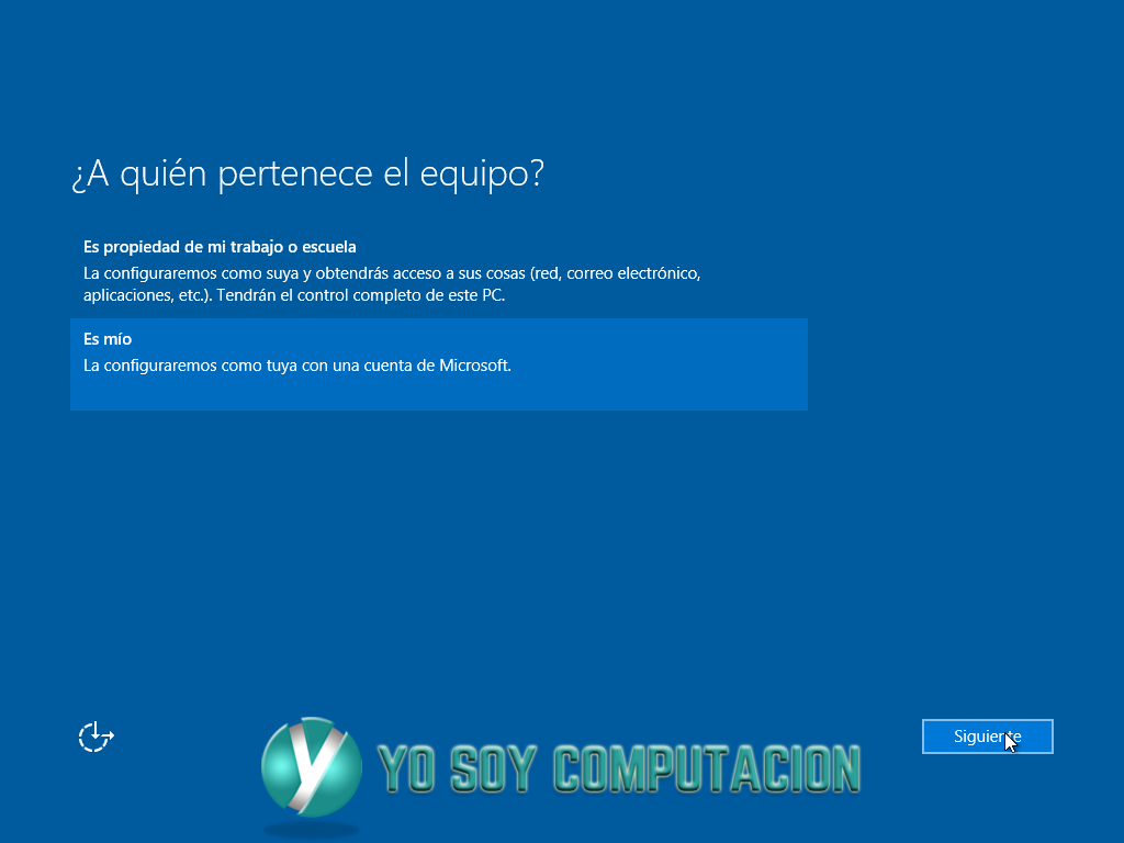 Windows 10 instalación