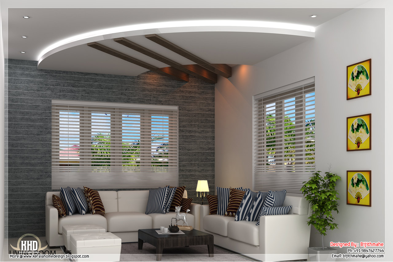 Coastal Design Living Room American Furniture 2700 Sq.feet Kerala Style Home Plan And Elevation - ...