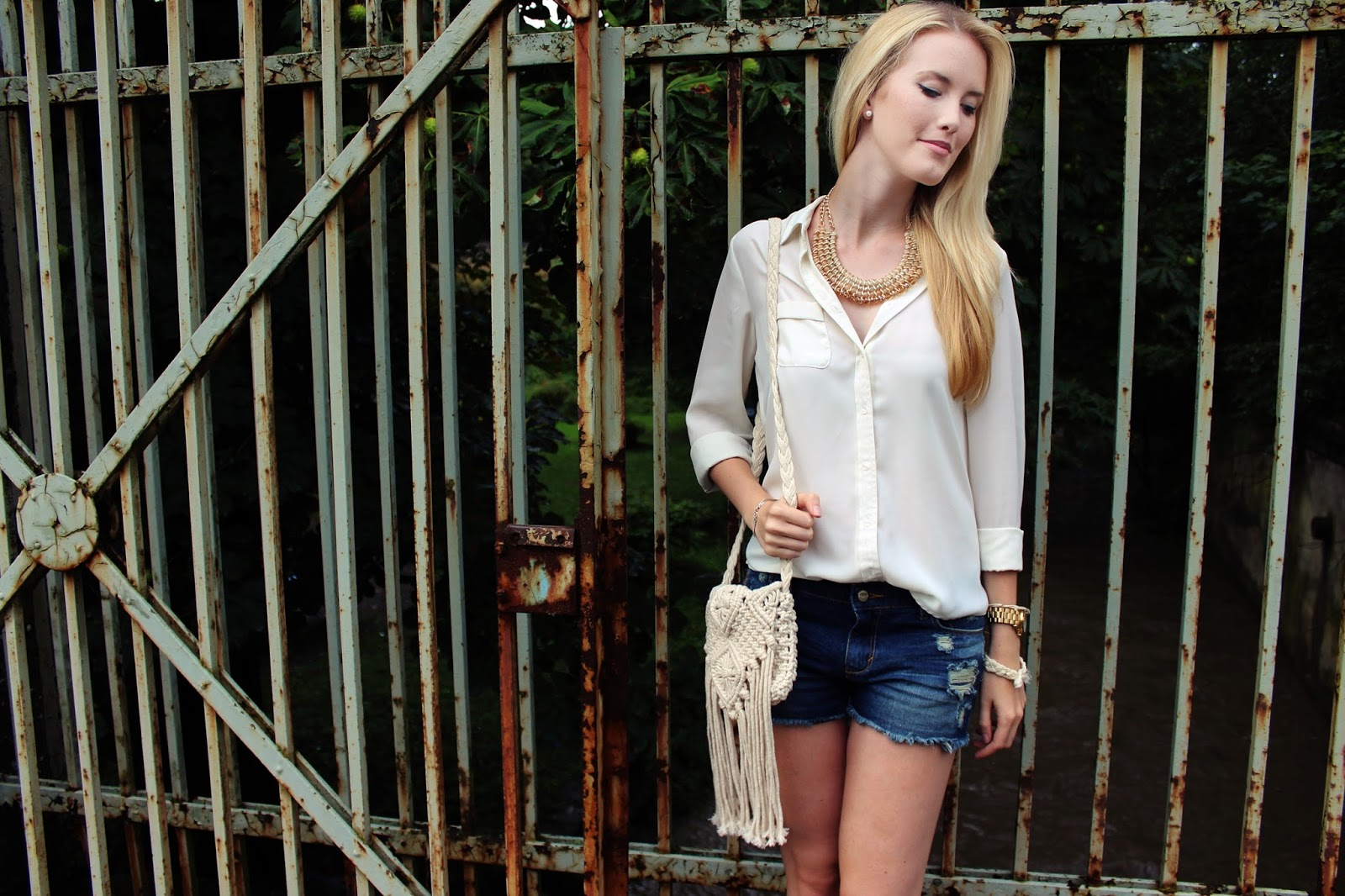 Statement Kette Glamondo Boho Hippie Basic Casual Outfit TheBlondeLion