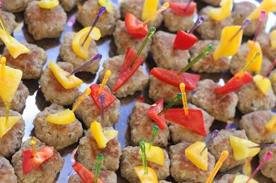 Mini meat balls finger food wedding reception - Birdcage vintage wedding - Irish wedding in Bavaria, Riessersee Hotel Garmisch-Partenkirchen, wedding venue abroad