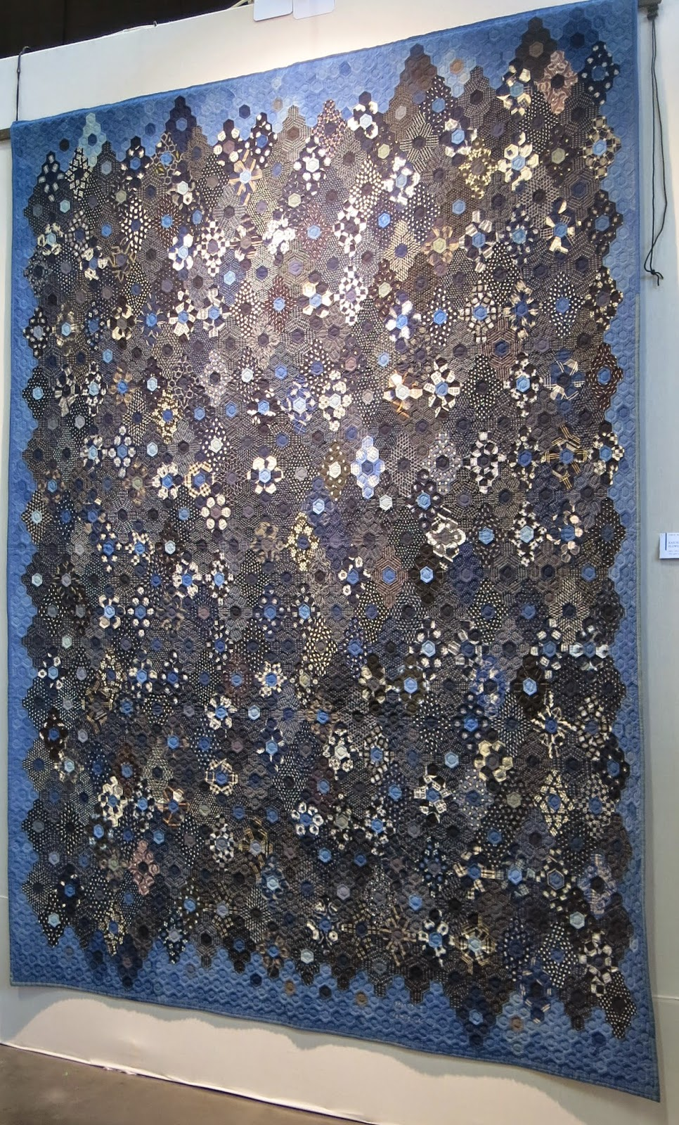 Quilt exhibition in Nantes - Tomie Nagano's indigo quilts