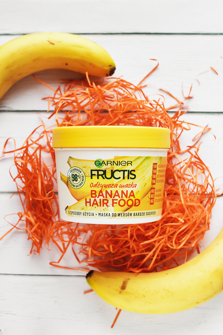 BANANOWA SZAMKA 🍌 GARNIER, FRUCTIS, BANANA HAIR FOOD, MASKA DO WŁOSÓW