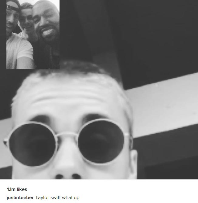 Justin Bieber sides Kanye West in Taylor Swift beef