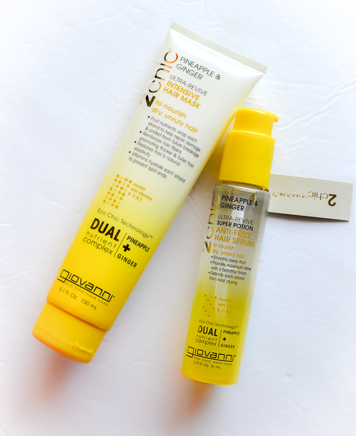 Giovanni 2Chic Ultra-Revive Pineapple + Ginger Intensive Hair Mask and Anti-Frizz Serum review