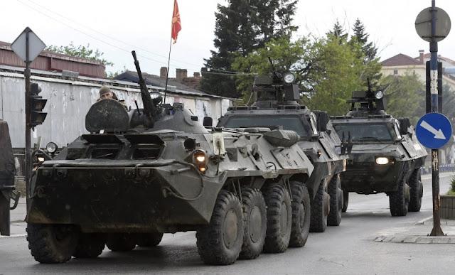 Αυξάνεται η ένταση - Οι Σκοπιανοί έστειλαν τεθωρακισμένα στις αλβανικές περιοχές