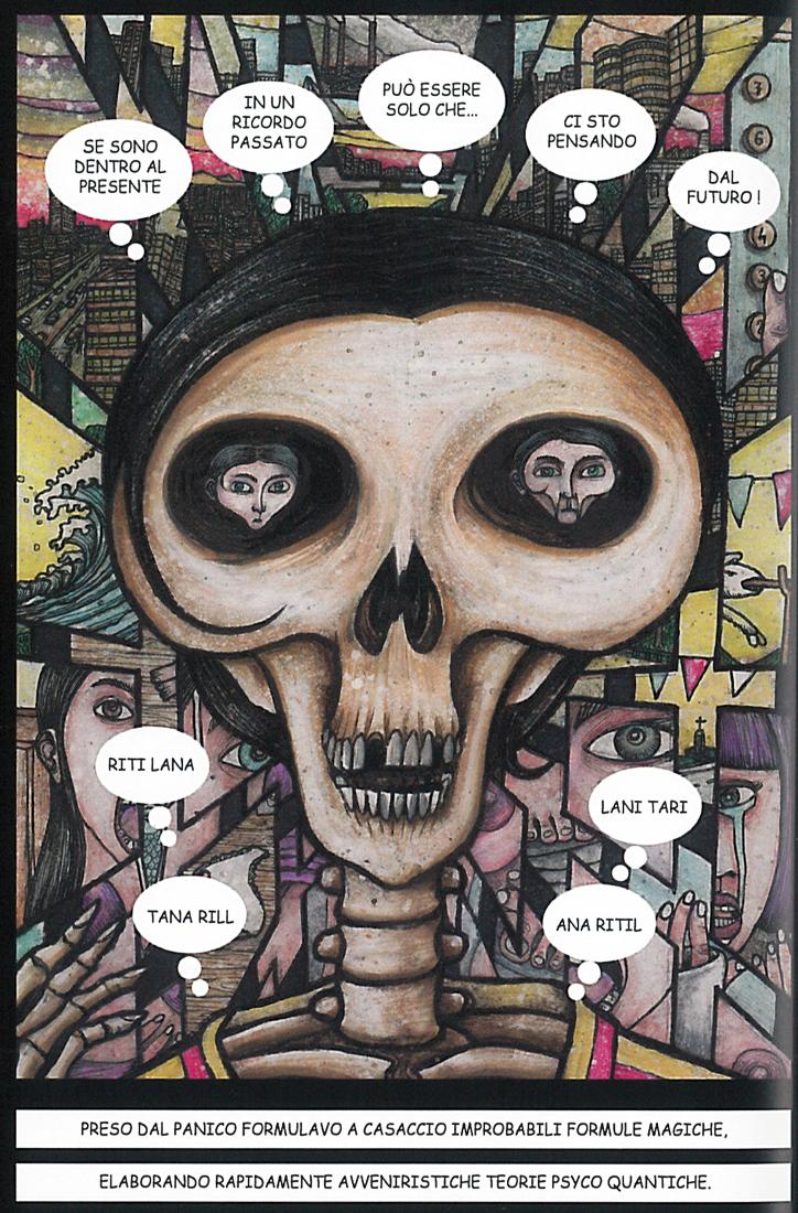 Una pagina tratta da Xam, i pensieri di un giovane morto, di Madest.