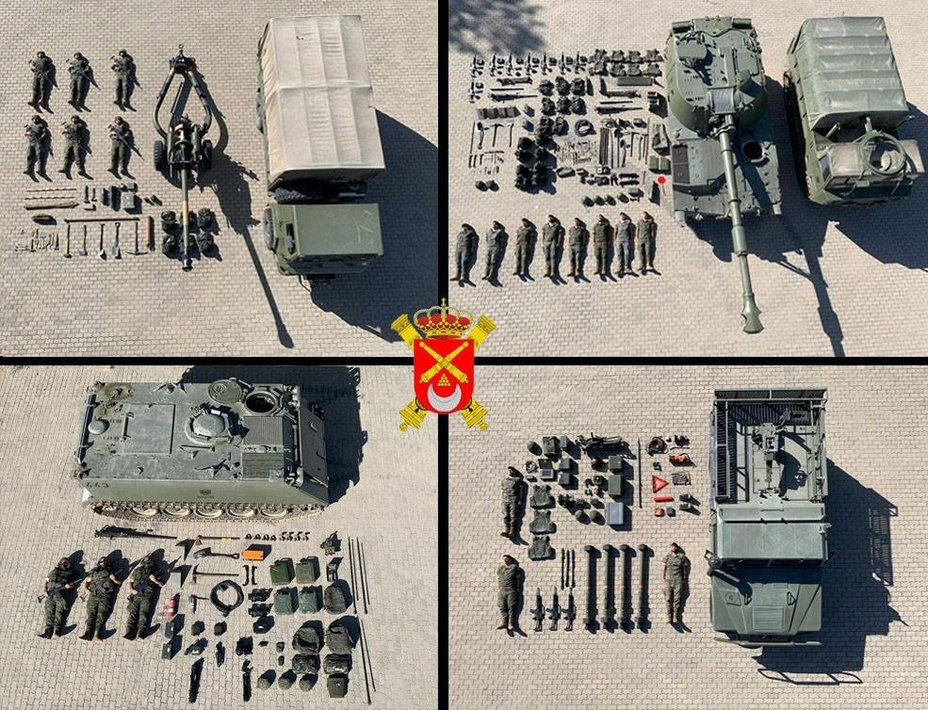 Колаж від іспанських військових