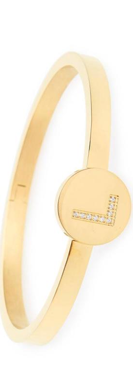 LULU DK Initial Bangle Bracelet