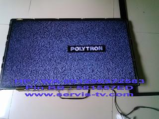 Service Polytron LED TV Gambar Garis
