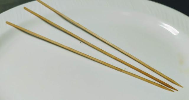 Wooden stick for easy Hawaiian chicken kebabs kabobs recipe