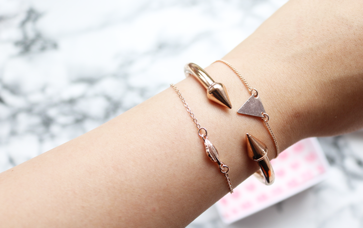 Happiness Boutique Rose Gold Double Spike Cuff Bracelet review