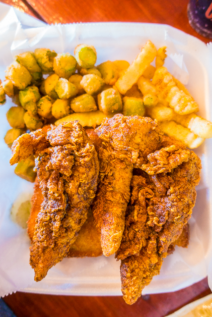 Tender Royale at Pepperfire Hot Chicken in East Nashville, TN