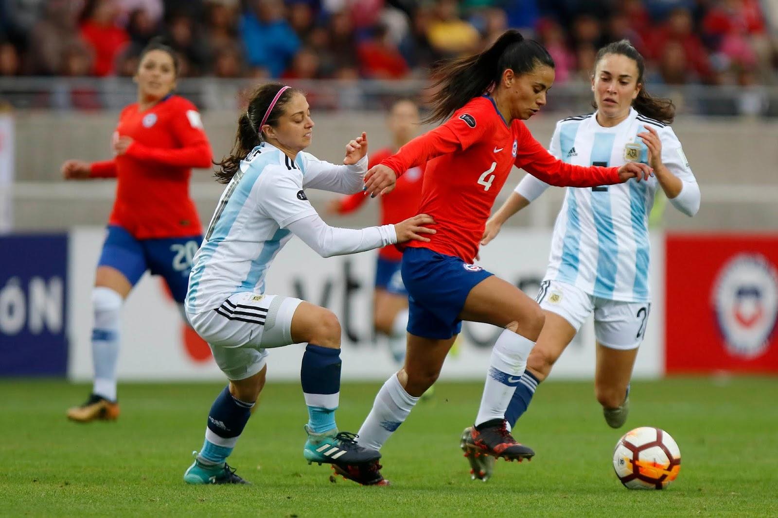 Chile y Argentina en Copa América Femenina 2018, 22 de abril
