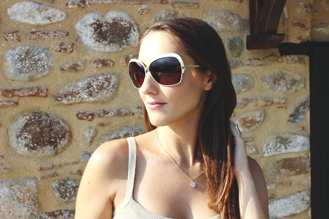 "Dita ""Marseilles"" sunglasses with white frames"
