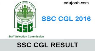 SSC CGL 2016 FINAL RESULT - EDUJOSH