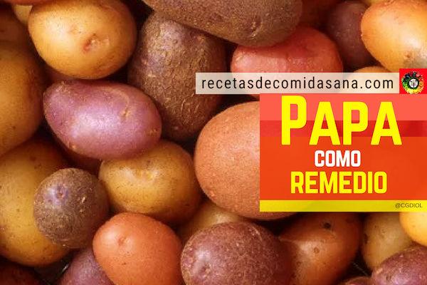 Recetas con patatas utilizadas como remedios caseros para múltiples afecciones