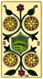 Tarot de Marsella: Cuatro de Oros