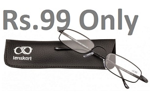 Great Deal: Vincent Chase Reading Eyeglasses just for Rs.99 Only with Free Home Delivery @ Lenskart