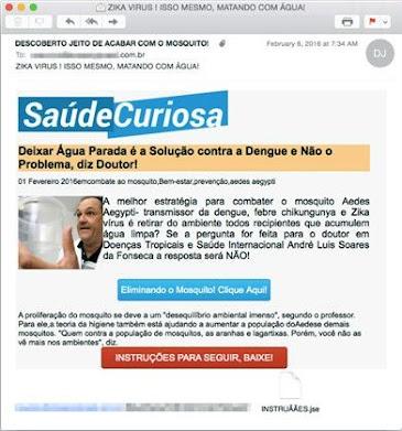Site Saúde Curiosa é na verdade uma campanha de spam malicioso