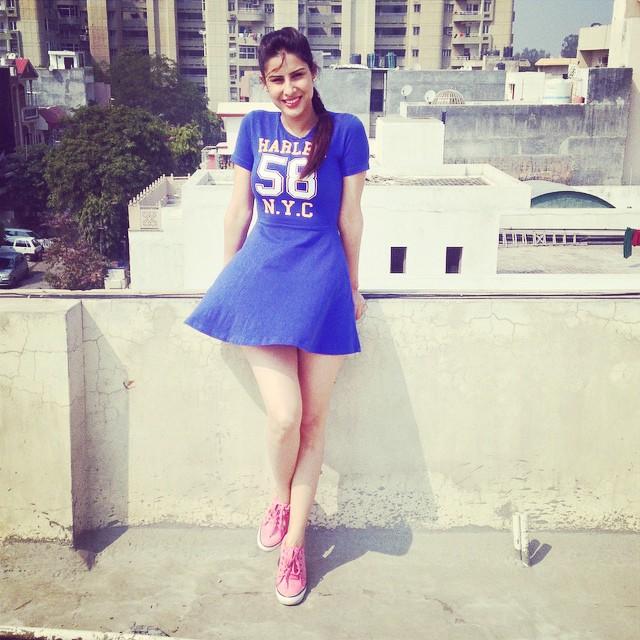 Sheetal Thakur On terrace