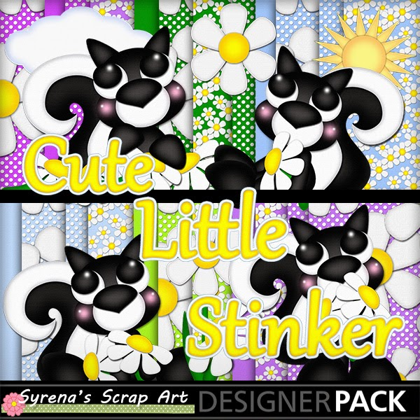 Cute Little Stinkers DIgital Scrapbook kit
